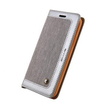 For Iphone X Belt Wallet Leather Case - GRAY