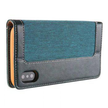 For Iphone X Belt Wallet Leather Case - GREEN