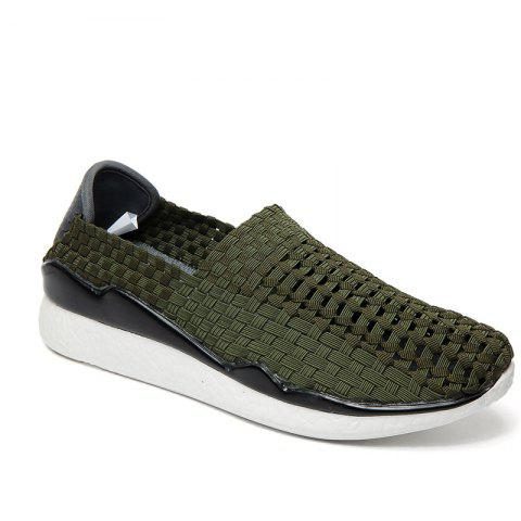 Four Seasons Elastic Cloth Rubber Sports Shoes - IVY 44