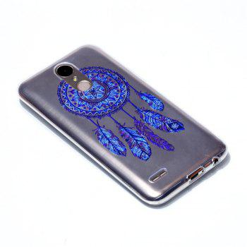 for LG K10-2017 Blue Bell Soft Clear TPU Phone Casing Mobile Smartphone Cover Shell Case - BLUE