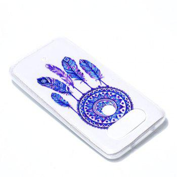 for LG Q8 Blue Bell Soft Clear TPU Phone Casing Mobile Smartphone Cover Shell Case - BLUE