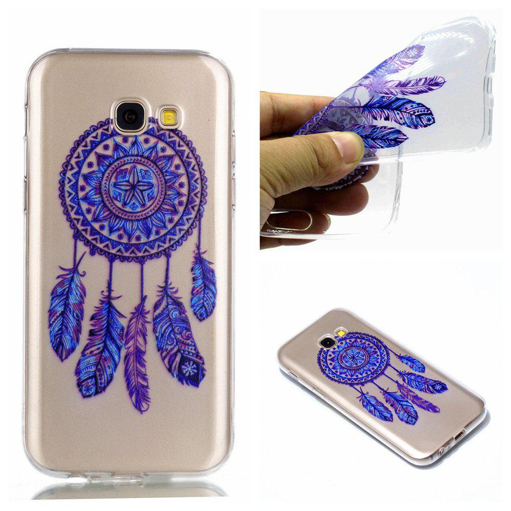 for Samsung A3 2017 Blue Bell Soft Clear TPU Phone Casing Mobile Smartphone Cover Shell Case - BLUE