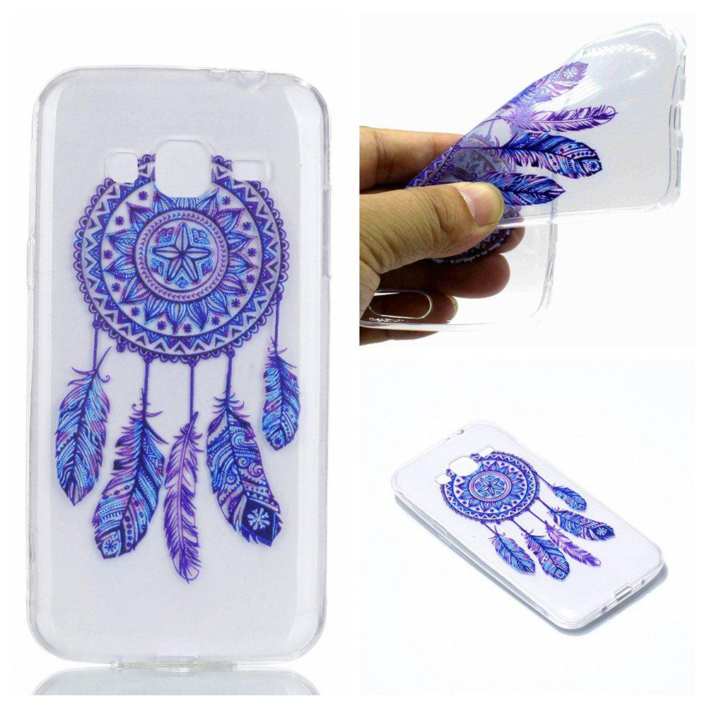 for Samsung J310 Blue Bell Soft Clear TPU Phone Casing Mobile Smartphone Cover Shell Case - BLUE