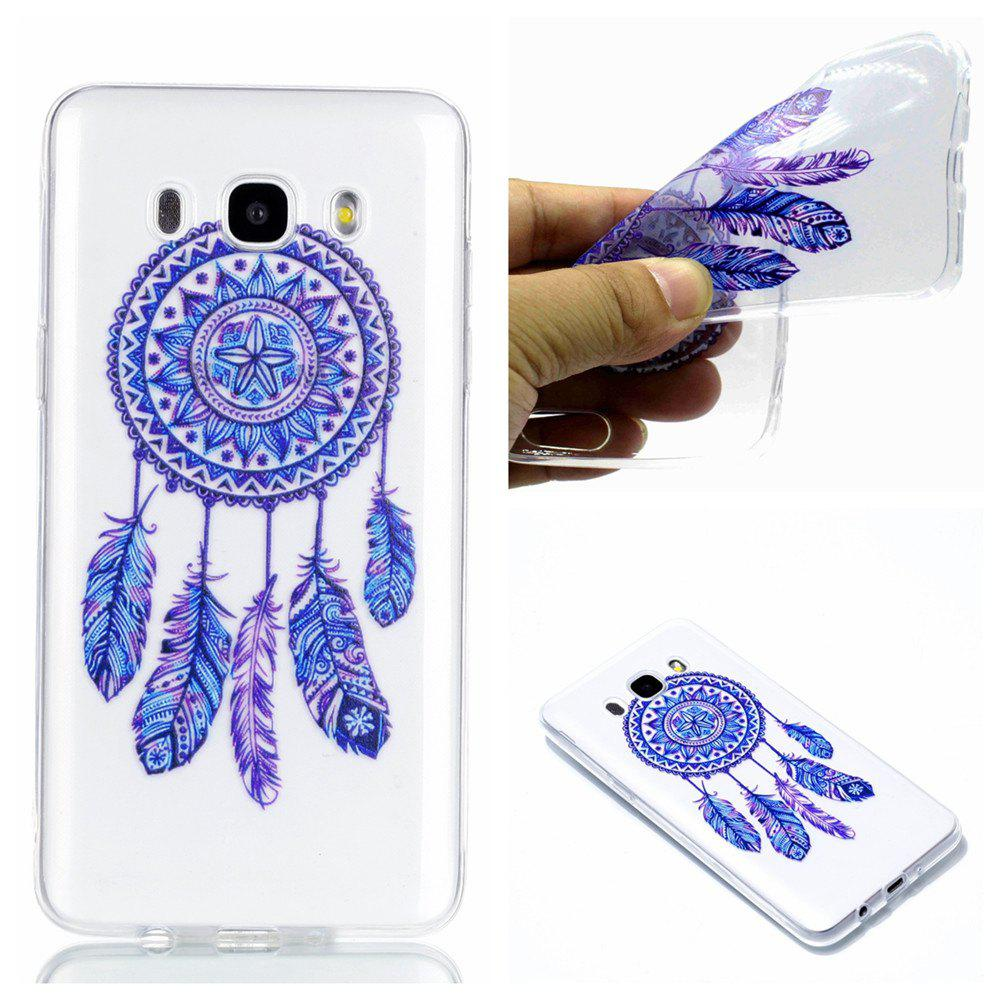 for Samsung J710 Blue Bell Soft Clear TPU Phone Casing Mobile Smartphone Cover Shell Case - BLUE