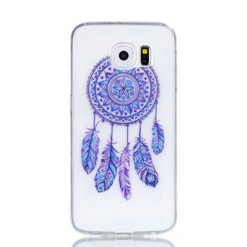 for Samsung S6 Blue Bell Soft Clear TPU Phone Casing Mobile Smartphone Cover Shell Case - BLUE