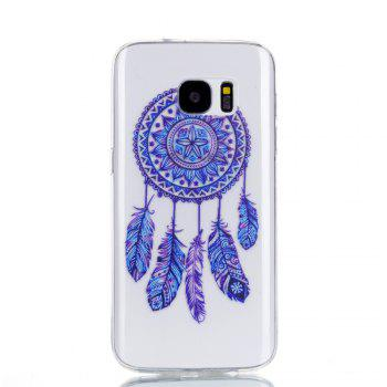 for Samsung S7 Blue Bell Soft Clear TPU Phone Casing Mobile Smartphone Cover Shell Case - BLUE