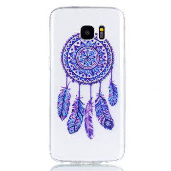 for Samsung S7 Edge Blue Bell Soft Clear TPU Phone Casing Mobile Smartphone Cover Shell Case - BLUE