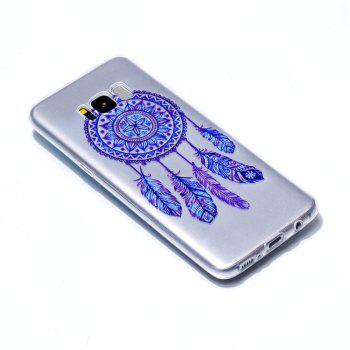 for Samsung S8 Blue Bell Soft Clear TPU Phone Casing Mobile Smartphone Cover Shell Case - BLUE