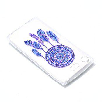 for Sony XZ 1 Blue Bell Soft Clear TPU Phone Casing Mobile Smartphone Cover Shell Case - BLUE