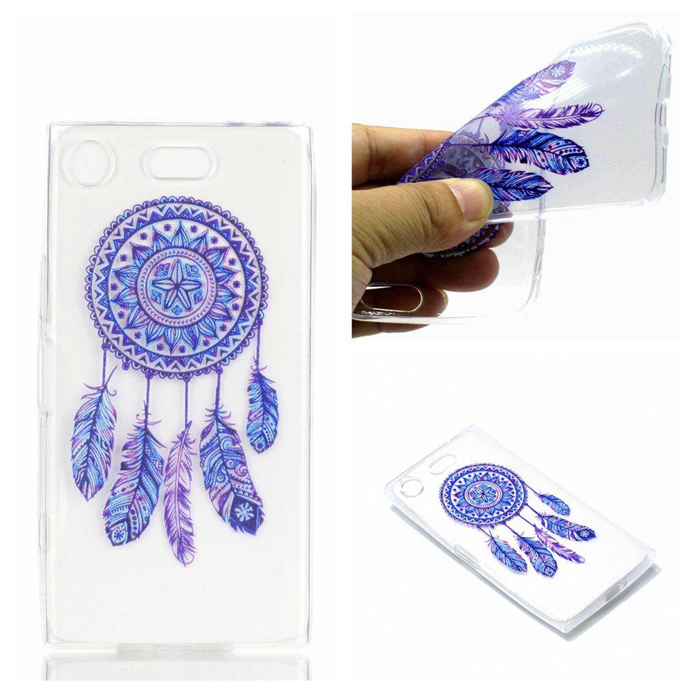 for Sony XZ1 Compact Blue Bell Soft Clear TPU Phone Casing Mobile Smartphone Cover Shell Case - BLUE