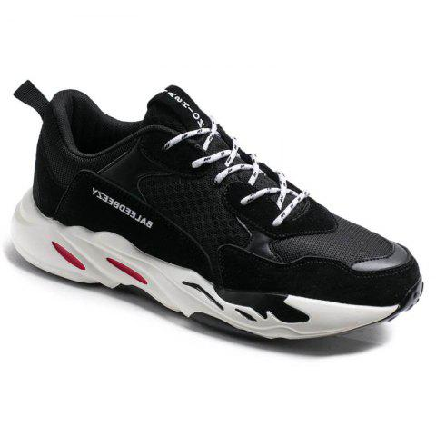 The New Simple Sports and Leisure Trend of Men'S Running Shoes - BLACK 39