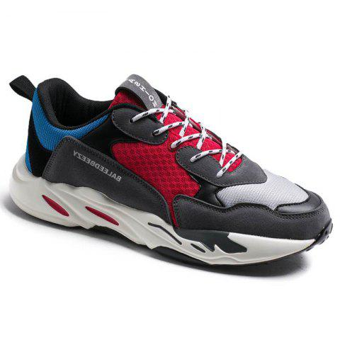 The New Simple Sports and Leisure Trend of Men'S Running Shoes - RED 44