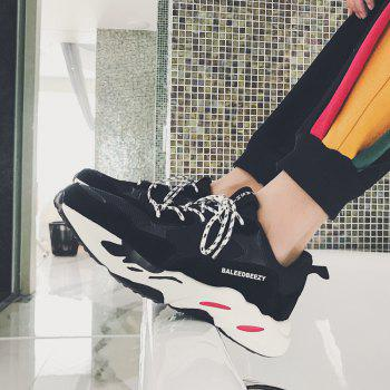 The New Simple Sports and Leisure Trend of Men'S Running Shoes - BLACK 41