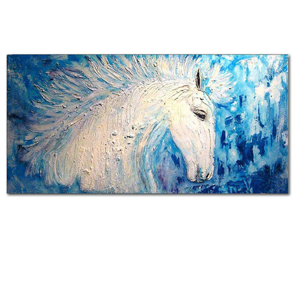 2018 Hand Painted Abstract Animal Thick Texture Horse Oil Painting ...