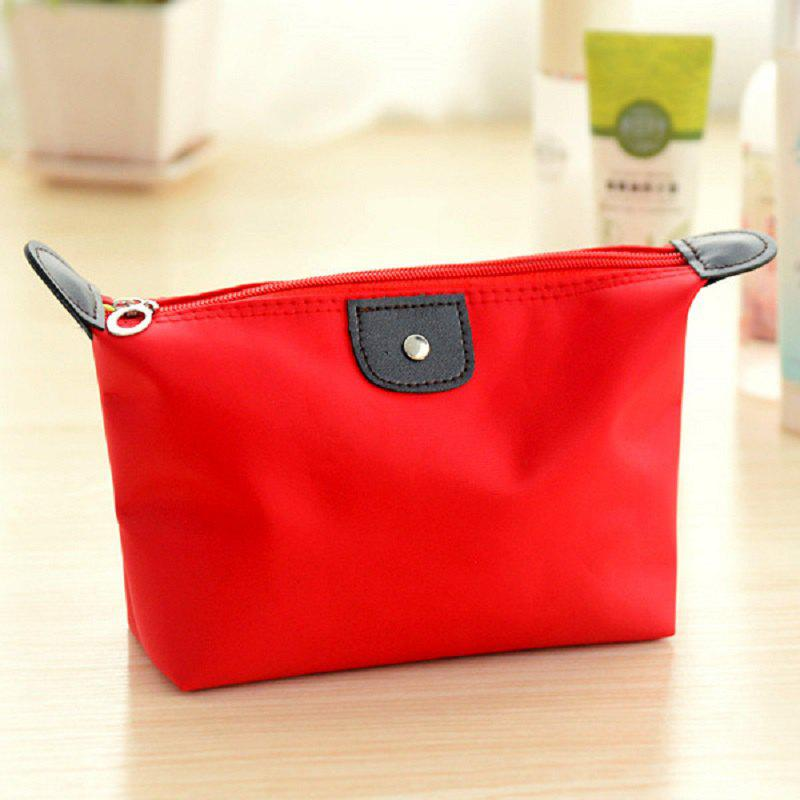 Makeup Organizer Travel Bag Women Cosmetic Bags Summer Dumpling Clutch Women Packages Waterproof Cosmetic Bag Handbag - RED