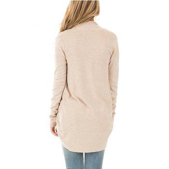 Femmes manches longues Kimono ouvert Cardigan Tricots - RAL Beige 2XL