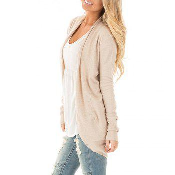 Femmes manches longues Kimono ouvert Cardigan Tricots - RAL Beige S
