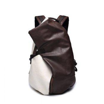 Soft Leather Men s Bag College Backpack