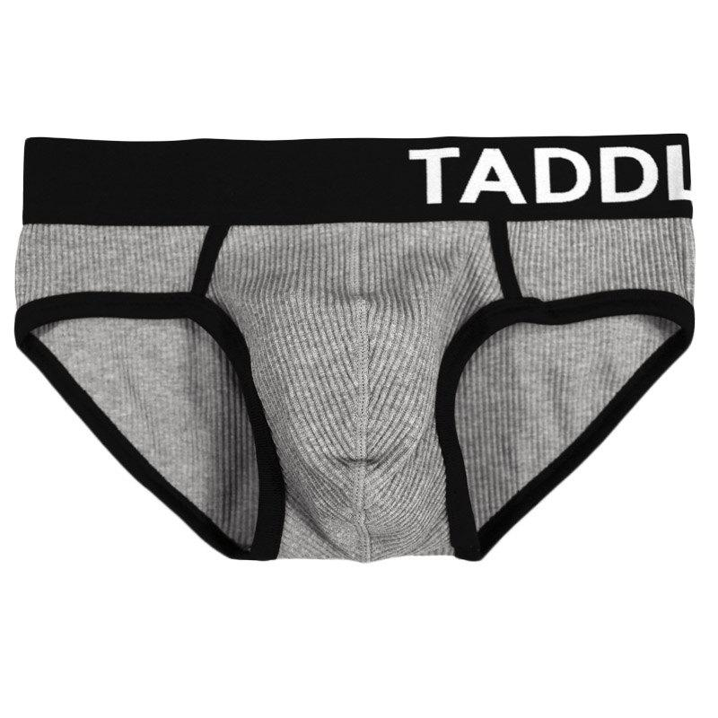 Taddlee 3 pcs Pack Sexy Briefs Sous-vêtements pour Hommes Coton Low Rise Stretch Briefs Ceinture Bikini - multicolor M