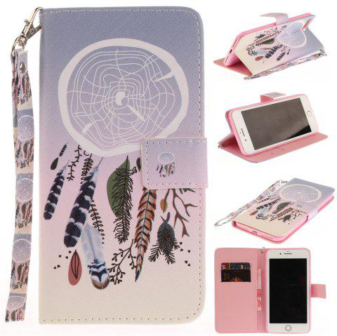 Cover Case for IPhone 7 Plus Color Bells PU+TPU Leather with Stand and Card Slots Magnetic Closure - COLOUR