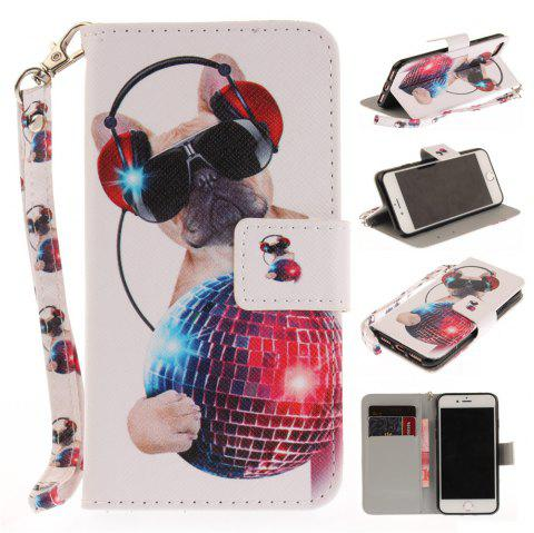 Cover Case for IPhone 7 Fashion Dog PU+TPU Leather with Stand and Card Slots Magnetic Closure - COLOUR