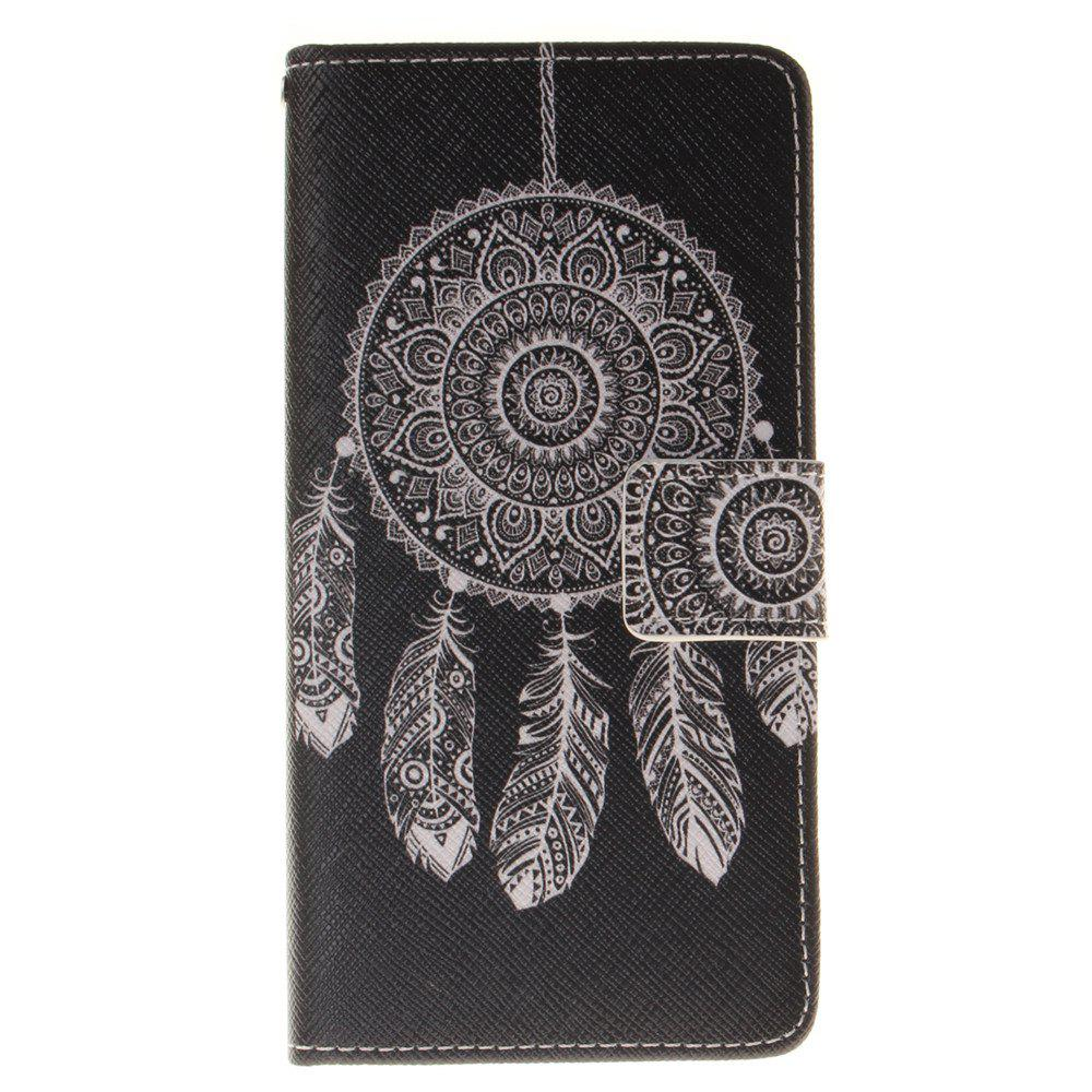 Cover Case for BQ M5 Black Wind Chimes PU+TPU Leather with Stand and Card Slots Magnetic Closure - BLACK