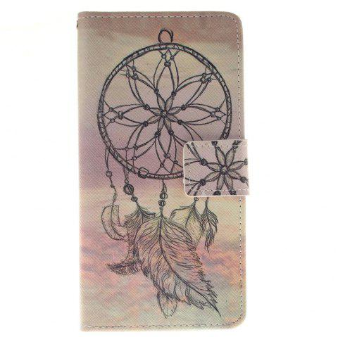 Cover Case for BQ M5 Dreamcatcher PU+TPU Leather with Stand and Card Slots Magnetic Closure - YELLOW