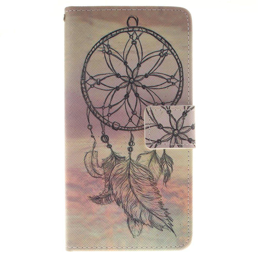 Cover Case for BQ X5 Dreamcatcher PU+TPU Leather with Stand and Card Slots Magnetic Closure - YELLOW