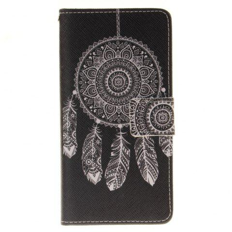 Cover Case for BQ X5 Black Wind Chimes PU+TPU Leather with Stand and Card Slots Magnetic Closure - BLACK