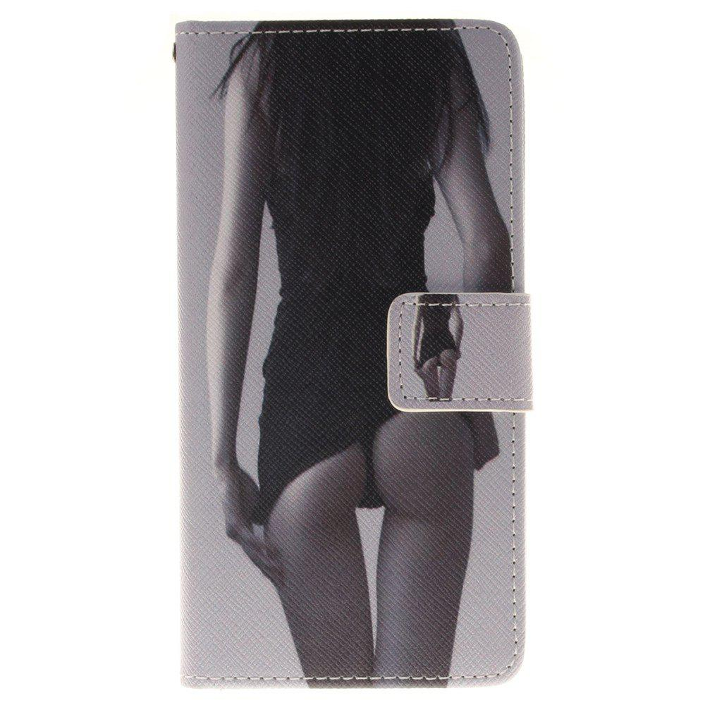 Cover Case for BQ X5 Sexy Girl PU+TPU Leather with Stand and Card Slots Magnetic Closure - BLACK