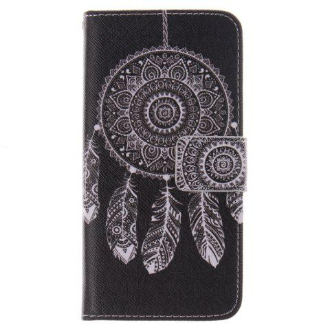 Cover Case for HTC M8 Mini Black Wind Chimes PU+TPU Leather with Stand and Card Slots Magnetic Closure - BLACK