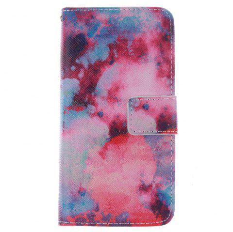 Cover Case for HTC M8 Mini Red Sky PU+TPU Leather with Stand and Card Slots Magnetic Closure - RED