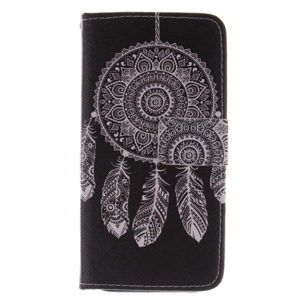 Cover Case for HTC M8 Black Wind Chimes PU+TPU Leather with Stand and Card Slots Magnetic Closure - BLACK