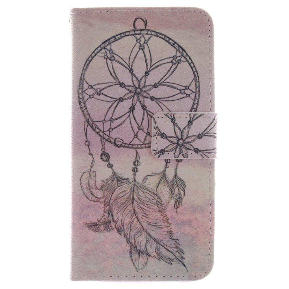 Cover Case for HTC M8 Dreamcatcher PU+TPU Leather with Stand and Card Slots Magnetic Closure - YELLOW