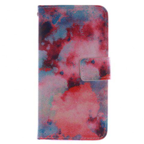 Cover Case for HTC M8 Red Sky PU+TPU Leather with Stand and Card Slots Magnetic Closure - RED