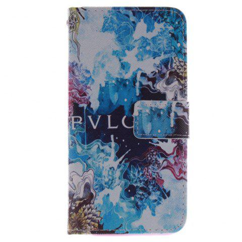 Cover Case for HTC M8 Beautiful Blue PU+TPU Leather with Stand and Card Slots Magnetic Closure - BLUE
