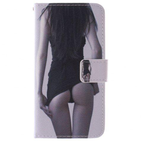 Cover Case for HTC M9 Sexy Girl PU+TPU Leather with Stand and Card Slots Magnetic Closure - BLACK