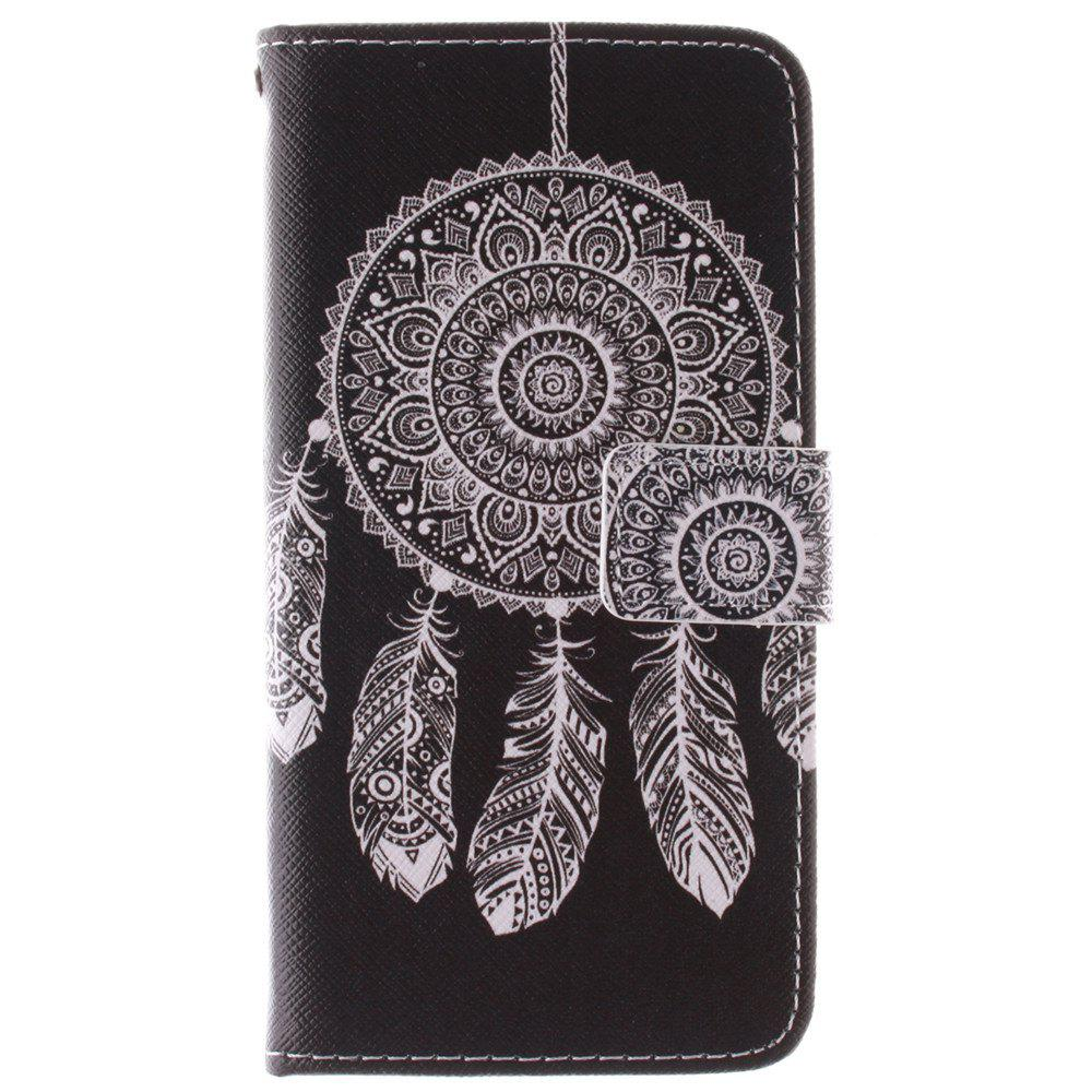 Cover Case for HTC M9 Black Wind Chimes PU+TPU Leather with Stand and Card Slots Magnetic Closure - BLACK