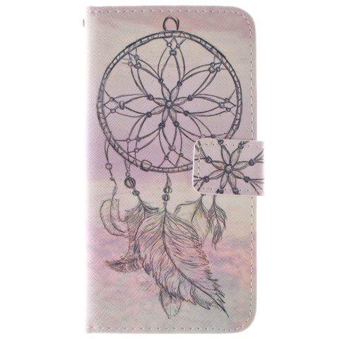 Cover Case for HTC M9 Dreamcatcher PU+TPU Leather with Stand and Card Slots Magnetic Closure - YELLOW