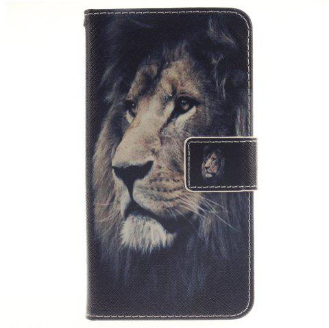 Cover Case for LG G3 Stylus D690 Lion PU+TPU Leather with Stand and Card Slots Magnetic Closure - BLACK