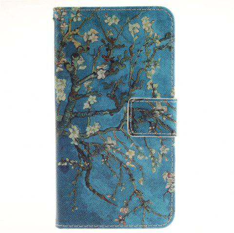 Cover Case for LG G3 Stylus D690 Apricot Blossom Tree PU+TPU Leather with Stand and Card Slots Magnetic Closure - BLUE