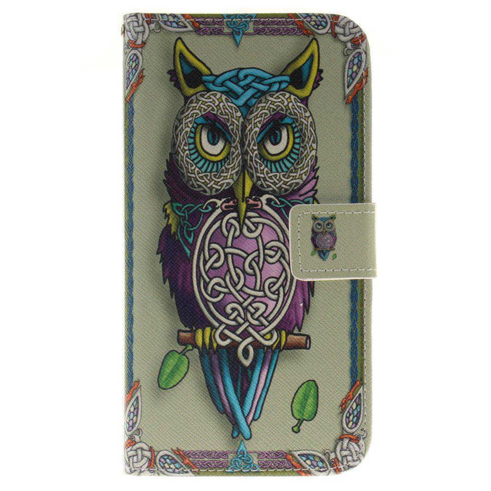Cover Case ForLG G4 Stylus 2 LS775 Owl PU+TPU Leather with Stand and Card Slots Magnetic Closure - YELLOW
