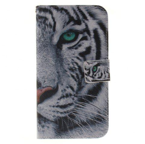 Cover Case ForLG G4 Stylus 2 LS775 The White Tiger PU+TPU Leather with Stand and Card Slots Magnetic Closure - WHITE