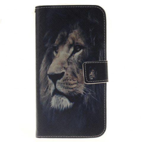 Cover Case For LG G4 Stylus 2 LS775 Lion PU+TPU Leather with Stand and Card Slots Magnetic Closure - BLACK