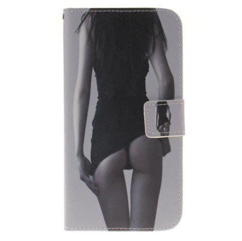 Cover Case For LG G4 Stylus 2 LS775 Sexy Girl PU+TPU Leather with Stand and Card Slots Magnetic Closure - BLACK