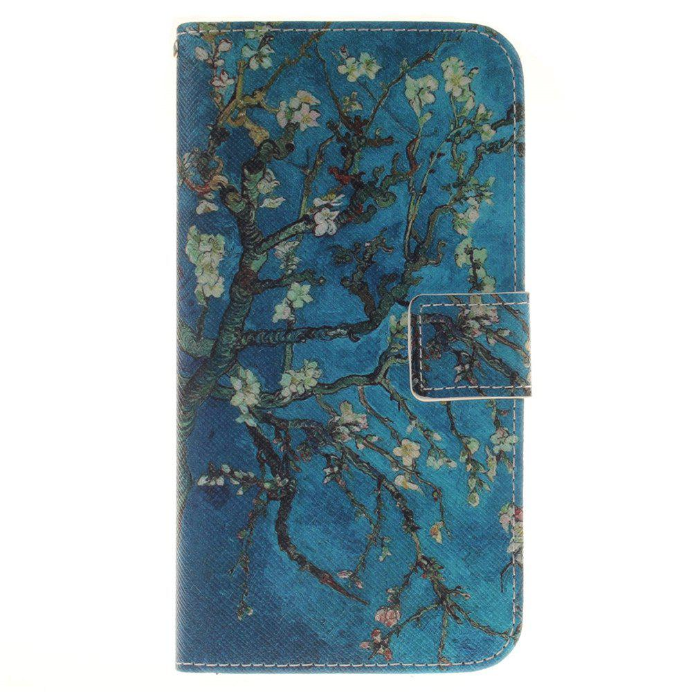 Cover Case For LG G4 Stylus 2 LS775 Apricot Blossom Tree PU+TPU Leather with Stand and Card Slots Magnetic Closure - BLUE