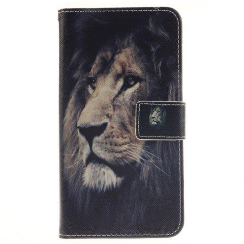 Cover Case For LG G4 Stylus LS770 Lion PU+TPU Leather with Stand and Card Slots Magnetic Closure - BLACK