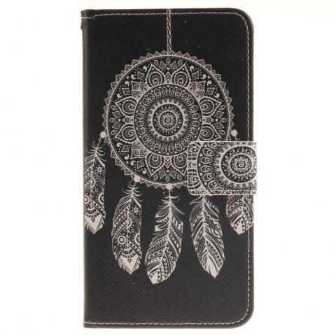 Cover Case For LG G4 Stylus LS770 Black Wind Chimes PU+TPU Leather with Stand and Card Slots Magnetic Closure - BLACK