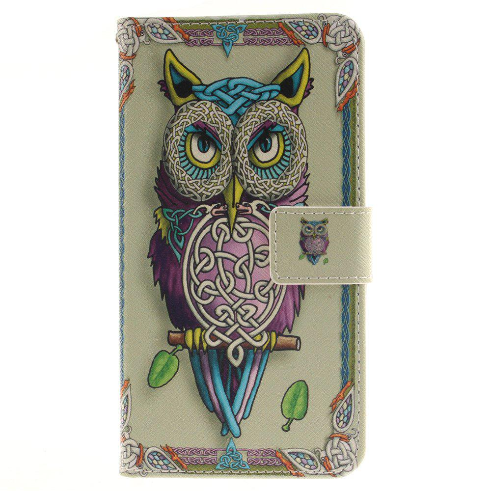 Cover Case For LG G4 Stylus LS770 Owl PU+TPU Leather with Stand and Card Slots Magnetic Closure - YELLOW