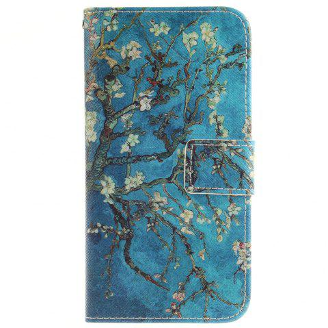 Cover Case For LG G5 Apricot Blossom Tree PU+TPU Leather with Stand and Card Slots Magnetic Closure - BLUE